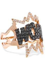WOW! 18-karat rose gold diamond ring