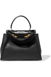 Fendi Peekaboo medium crocodile-trimmed leather and python tote