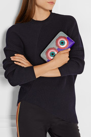 2Jours embellished textured-leather continental wallet