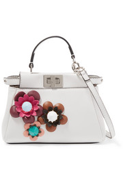 Peekaboo micro appliquéd leather shoulder bag