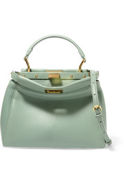Fendi Peekaboo small leather shoulder bag