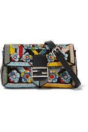 Fendi Baguette micro embellished satin shoulder bag