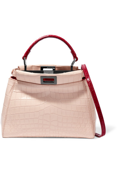 6cde875681ec Fendi | Peekaboo small crocodile shoulder bag | NET-A-PORTER.COM