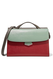 Fendi Demi Jour color-block textured-leather shoulder bag