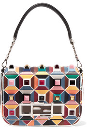 Fendi Baguette embellished leather shoulder bag