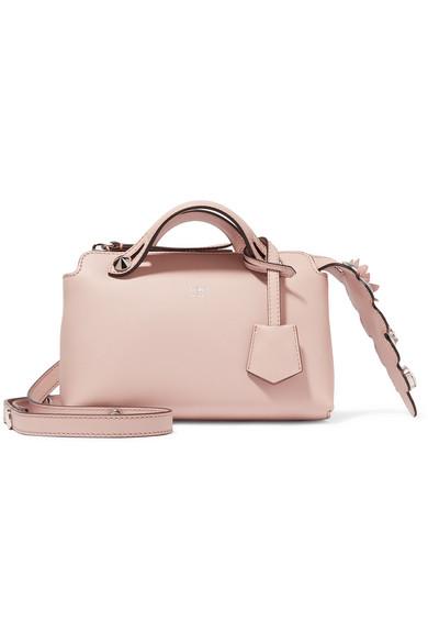 fendi female fendi by the way mini appliqued leather shoulder bag blush