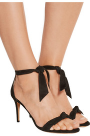 Patty bow-embellished suede sandals