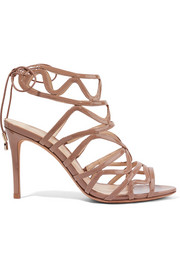 Nim patent-leather sandals