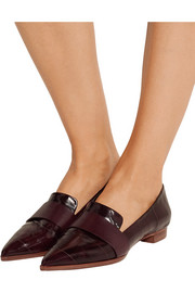 Alexandre Birman Emily eel and leather point-toe flats