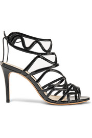 Nim cutout patent-leather sandals