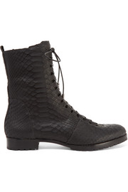 Benjamin lace-up python boots