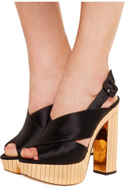 Charlotte Olympia Electra satin platform sandals