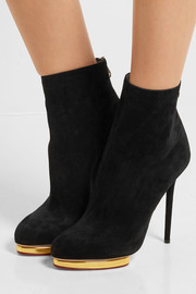 Charlotte Olympia Doreen suede ankle boots