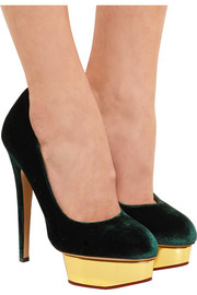 Charlotte Olympia The Dolly velvet pumps
