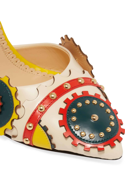 Charlotte Olympia Mechanix studded leather pumps