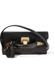 Grace large textured-leather shoulder bag
