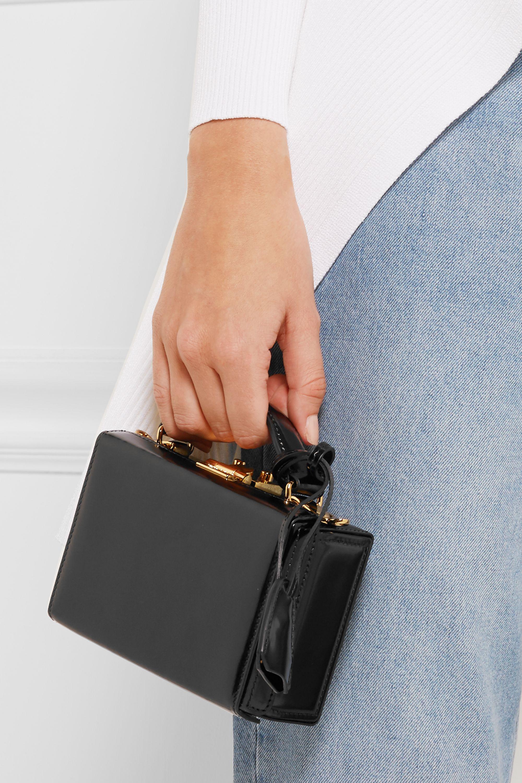 Mark Cross Grace mini glossed-leather shoulder bag