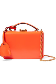 Grace mini glossed-leather shoulder bag