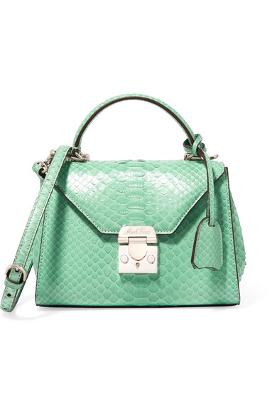 Mark Cross - Hadley Baby Python Shoulder Bag