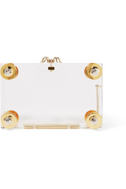Handroid embellished Perspex clutch