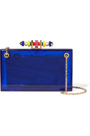 Charlotte Olympia Dora 1920 embellished Perspex clutch