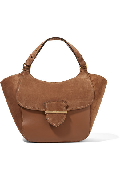 michael kors female 211468 michael kors collection josie large suede and leather tote brown