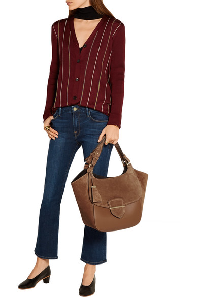 f22fed0c66765e Michael Kors Collection | Josie large suede and leather tote | NET-A ...