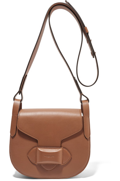 michael kors female 211468 michael kors collection daria small leather shoulder bag light brown