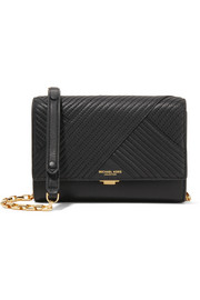 Yasmeen small quilted leather shoulder bag