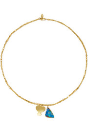 Pippa Small 18-karat gold opal necklace