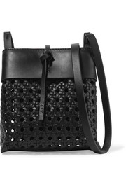 Nano Tie woven leather shoulder bag