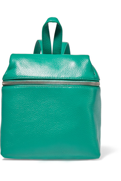 Kara - Small Textured-leather Backpack - Jade