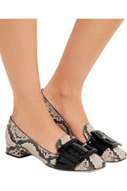 Miu Miu Watersnake and patent-leather pumps
