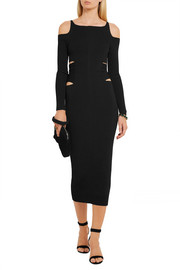 Roberto Cavalli Cutout stretch-knit midi dress