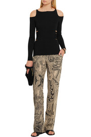 Roberto Cavalli Cutout stretch-knit top