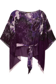 Roberto Cavalli Printed silk-georgette top