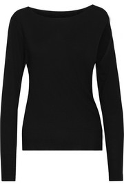 Cutout fine-knit sweater