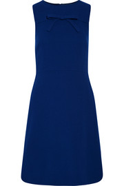 Boutique Moschino Bow-embellished wool-crepe dress
