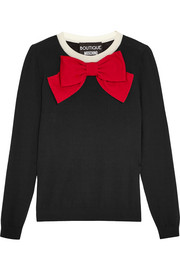 Boutique Moschino Bow-embellished wool sweater
