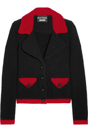 Boutique Moschino Two-tone wool-blend bouclé jacket