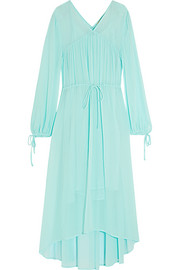 Rutabaga gathered chiffon midi dress