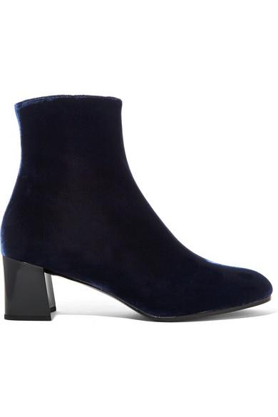 Jil Sander - Velvet Ankle Boots - Midnight blue