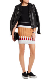 Moschino Intarsia wool mini skirt