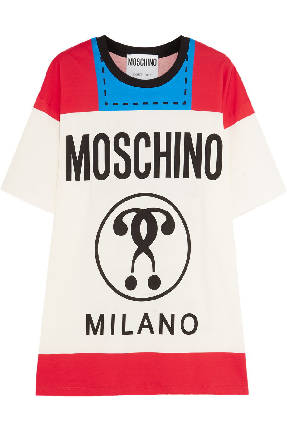 Moschino Printed Cotton-Jersey T-Shirt, Red, Women's