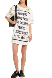 Moschino Printed satin mini dress