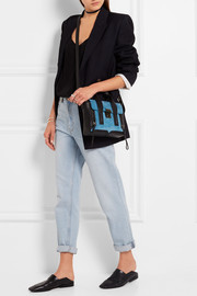 3.1 Phillip Lim The Pashli mini suede and leather trapeze bag