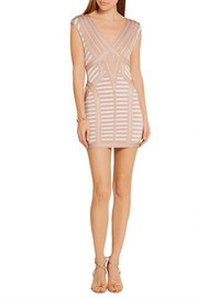 Hervé Léger Katina stretch jacquard-knit mini dress