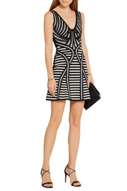 Hervé Léger Milana stretch jacquard-knit mini dress