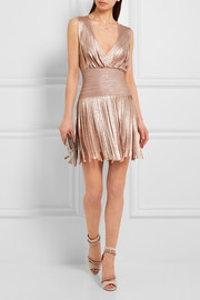 Hervé Léger Naomi fringed metallic bandage mini dress