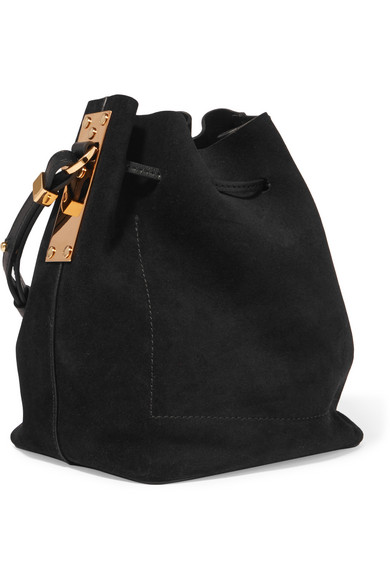 68d7a14d23b62 Sophie Hulme | Nelson small suede bucket bag | NET-A-PORTER.COM